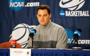 23 March 2011:  during Arizona Wildcats Press Conference and Practice for the Sweet Sixteen Round of the Division I Men's NCAA Basketball Championship at the Honda Center in Anaheim, CA.
